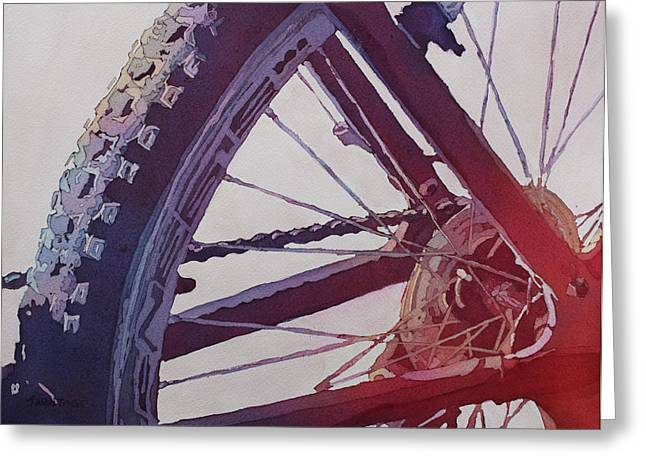 Armitage Greeting Cards - Heart of the Bike Greeting Card by Jenny Armitage