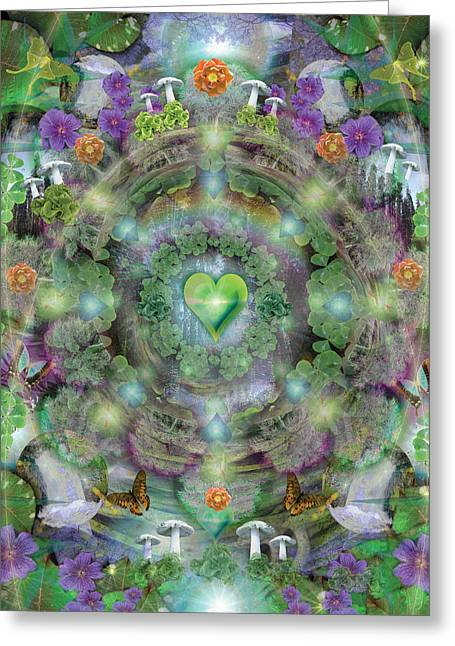 Alixandra Mullins Greeting Cards - Heart of the Forest Greeting Card by Alixandra Mullins