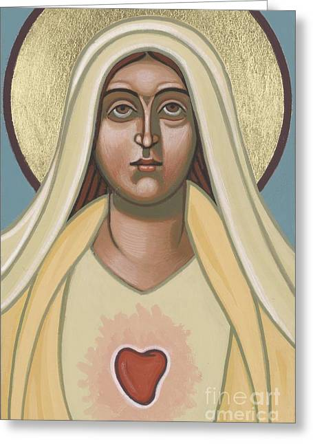 Immaculate Heart Greeting Cards - Heart of the Mother Greeting Card by William Hart McNichols