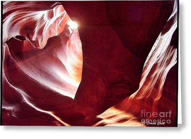 Water In Caves Greeting Cards - Heart of the Mountain Greeting Card by Donna Cook