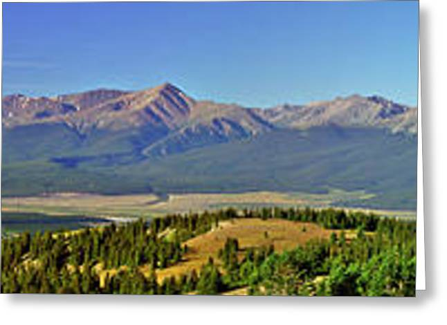 Heart Of The Sawatch Panoramic Greeting Card by Jeremy Rhoades