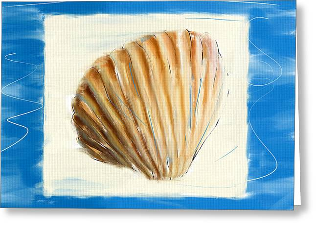 Seashell Digital Art Greeting Cards - Heart Of The Sea Greeting Card by Lourry Legarde