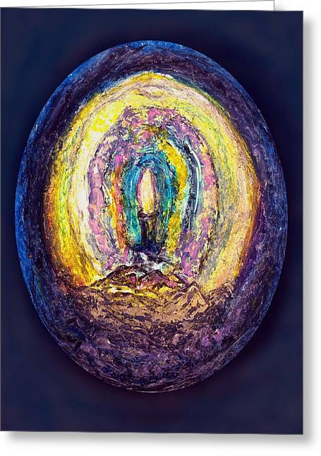 Genesis Pastels Greeting Cards - Heart of The Stone Greeting Card by Yuri Lushnichenko