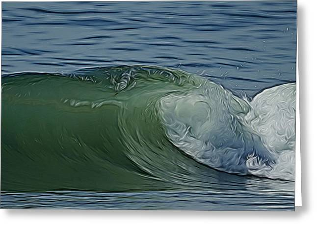 California Beach Art Digital Art Greeting Cards - Heart of the Wave Digital Art Greeting Card by Ernie Echols