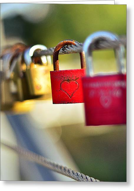 Heart On The Padlock Greeting Card by Gynt