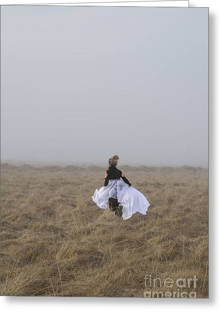 Skirt Photographs Greeting Cards - Heart On The Run Greeting Card by Evelina Kremsdorf