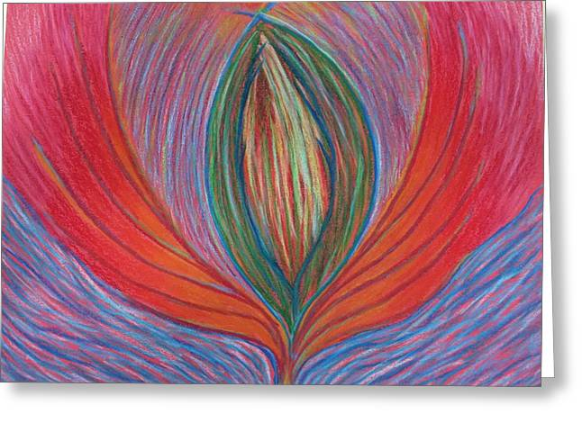 Transformations Pastels Greeting Cards - Heart Opening Greeting Card by Jamie Rogers