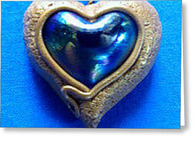 Sculpture Jewelry Greeting Cards - Heart Greeting Card by Patricia Lewis