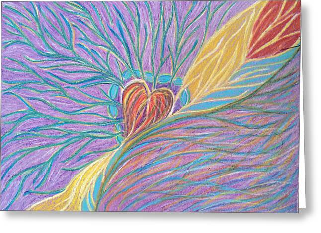 Transformations Pastels Greeting Cards - Heart Revealing Greeting Card by Jamie Rogers