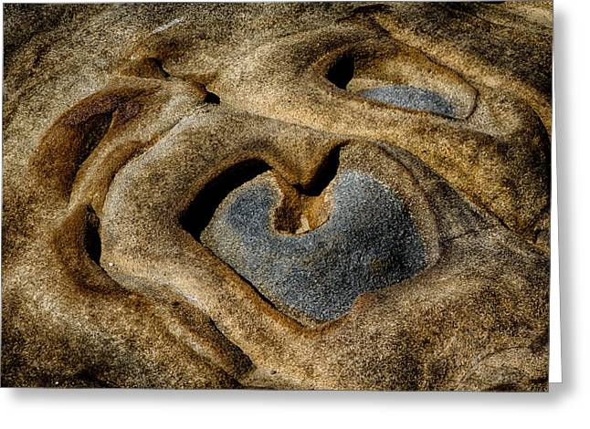 Point Lobos Greeting Cards - Heart Rock Greeting Card by Robert Woodward