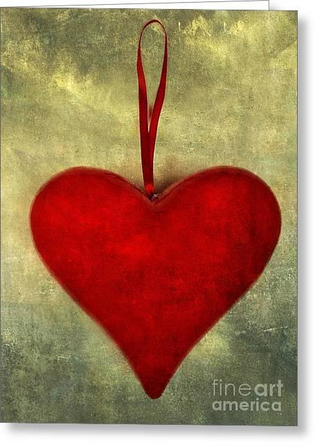 Love Image Greeting Cards - Heart shape Greeting Card by Bernard Jaubert