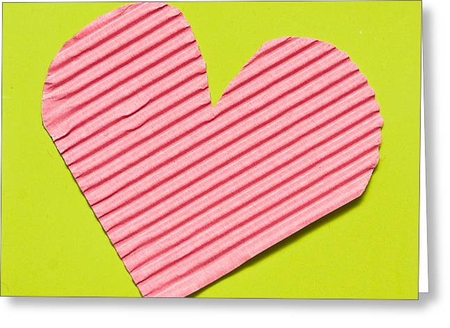 Adoration Greeting Cards - Heart shape Greeting Card by Tom Gowanlock