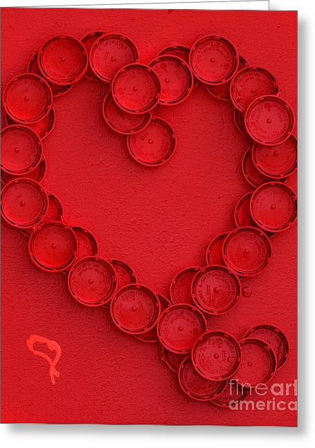 Pill Paintings Greeting Cards - Heart Smart Greeting Card by Alys Caviness-Gober