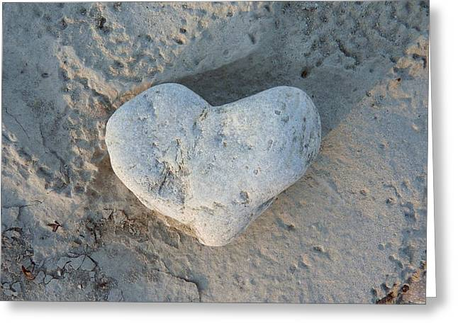 Stones Photographs Greeting Cards - Heart Stone Photography Greeting Card by Rachel Stribbling