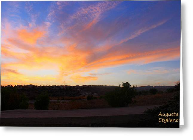 Amazing Sunset Greeting Cards - Heart Sunset Greeting Card by Augusta Stylianou