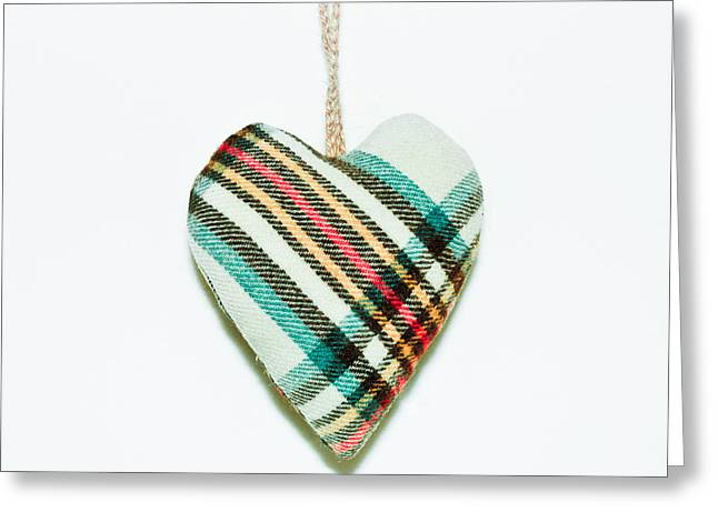 White Cloth Greeting Cards - Heart Greeting Card by Tom Gowanlock