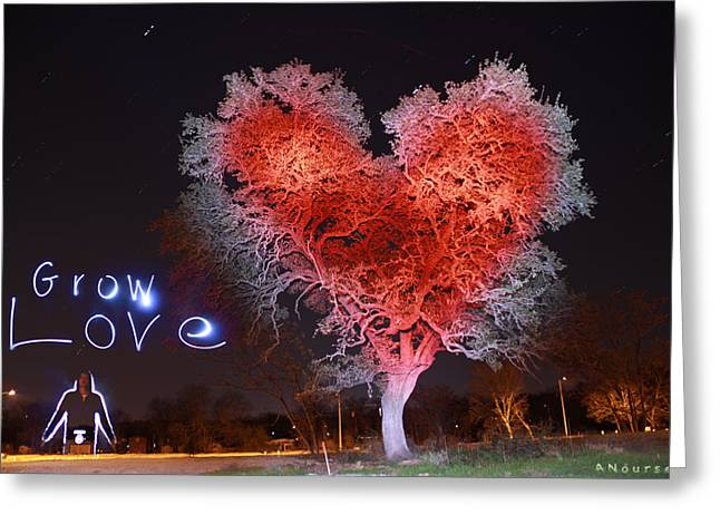 Exposure Paintings Greeting Cards - Grow Love Greeting Card by Andrew Nourse