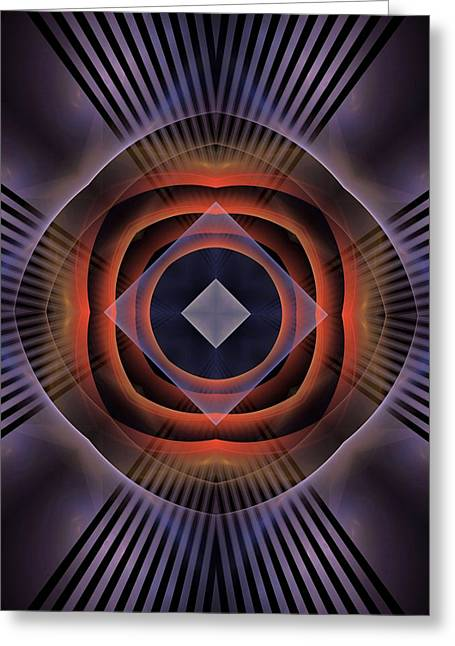 Divorce Greeting Cards - Heart-triangle-Right-or-Left-Panel-1BB Greeting Card by Bill Campitelle