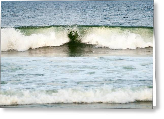 Bathroom Prints Greeting Cards - Heart Wave Seaside New Jersey Greeting Card by Terry DeLuco