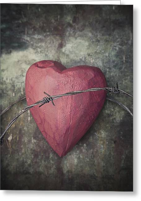 Divorce Greeting Cards - Heart with thorns Greeting Card by Maria Heyens