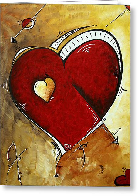 Licensor Greeting Cards - Heartbeat by MADART Greeting Card by Megan Duncanson