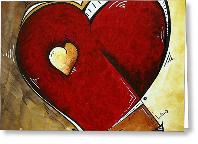 Heartbeat by MADART Greeting Card by Megan Duncanson