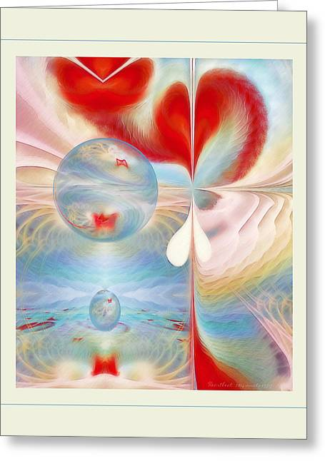 Heartbeat Greeting Card by Gayle Odsather