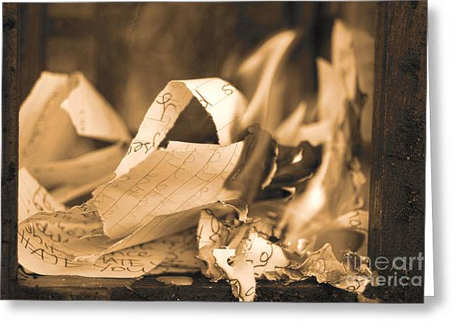Heartbreak And Smoke Xv Greeting Card by Cassandra Buckley