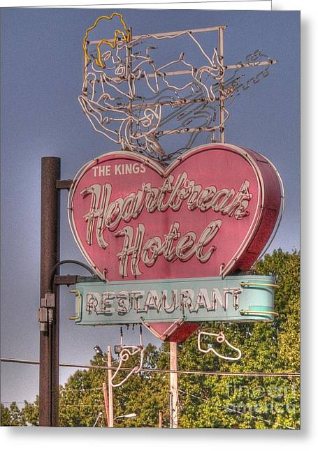 Heartbreak Greeting Cards - Heartbreak Hotel Greeting Card by David Bearden