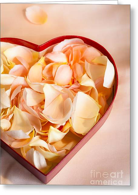 Petal Greeting Cards - Heartfelt Greeting Card by Jan Bickerton