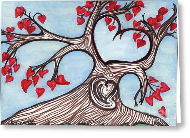 Postal Drawings Greeting Cards - Heartfelt Greeting Card by Minnie Lippiatt