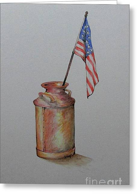 4th July Paintings Greeting Cards - Heartland America Greeting Card by Catherine Howley