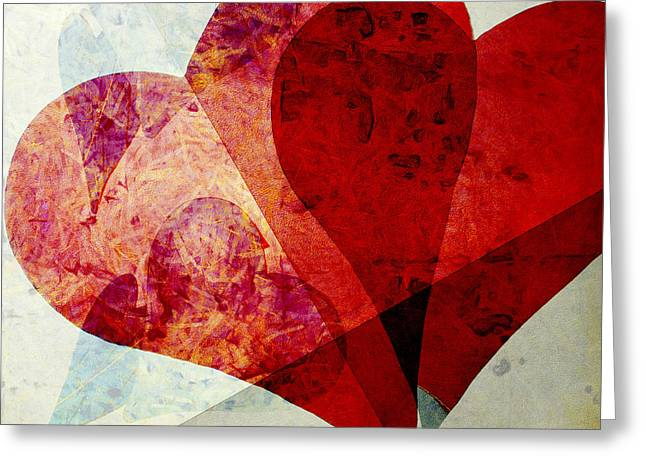 Square Format Greeting Cards - Hearts 5 Square Greeting Card by Edward Fielding