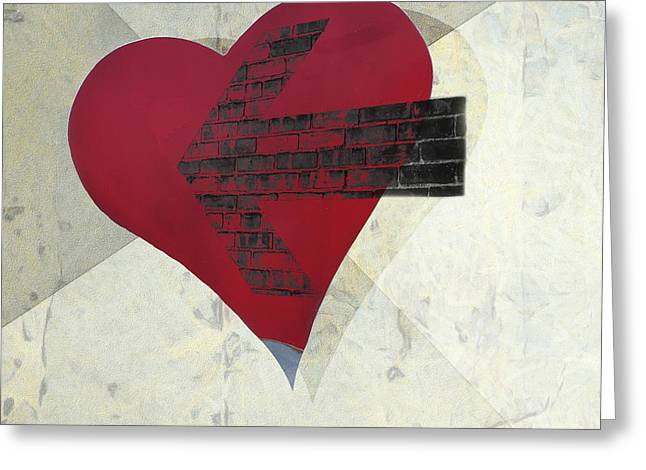 Arrow Abstract Greeting Cards - Hearts 7 Square Greeting Card by Edward Fielding