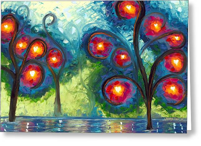 Jessilyn Park Greeting Cards - Hearts Afire Greeting Card by Jessilyn Park