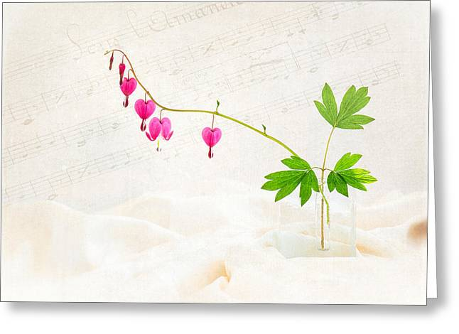 Hearts and Music Greeting Card by Sarah-fiona  Helme