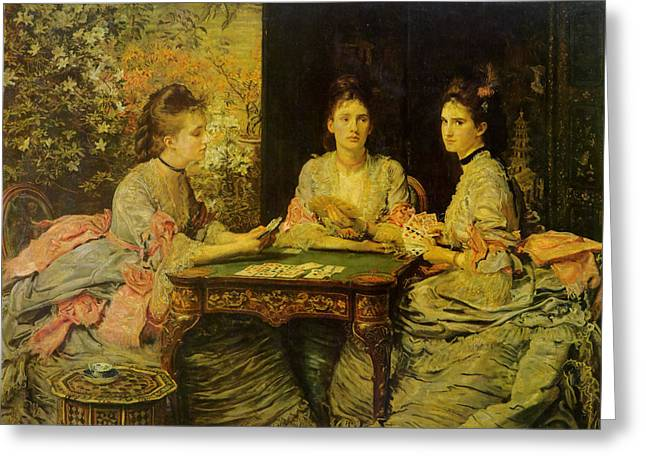 Playing Cards Greeting Cards - Hearts Are Trump Greeting Card by John Everett Millais