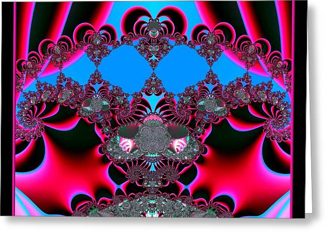 Hearts Ballet Curtain Call Fractal 121 Greeting Card by Rose Santuci-Sofranko