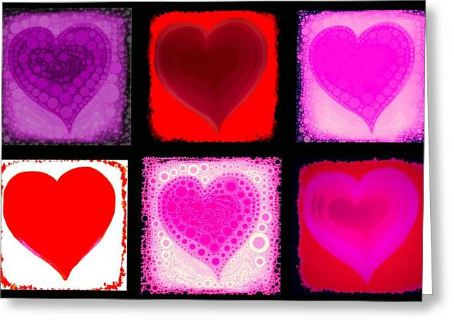 Sweethart Greeting Cards - Hearts Greeting Card by Cindy Edwards