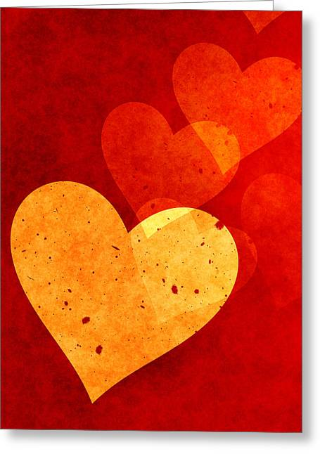 Home Decor Greeting Cards - Hearts Decor Greeting Card by Home Decor