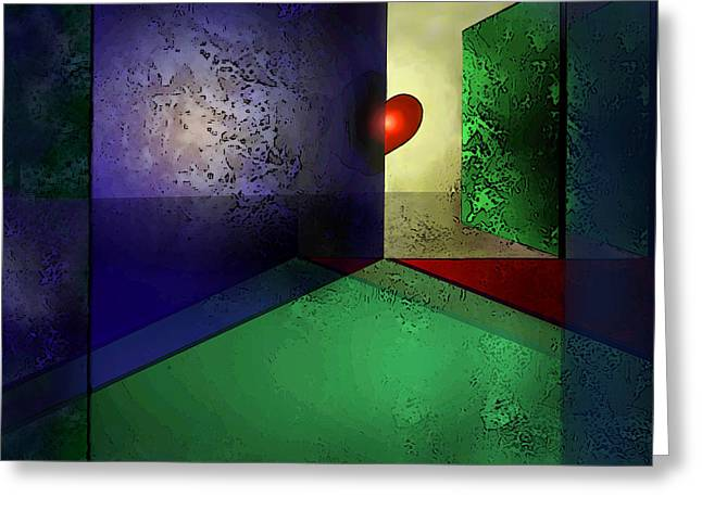 Subconscious Digital Art Greeting Cards - Hearts Desire Greeting Card by Carol Jacobs