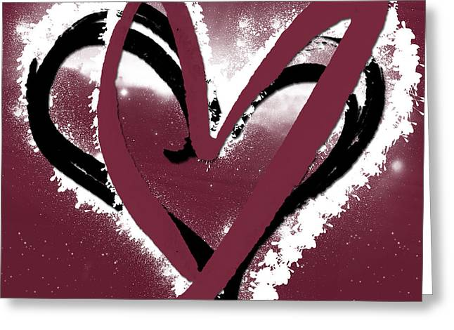 Red Wine Prints Mixed Media Greeting Cards - Hearts for Hearts 11 Greeting Card by Melissa Smith