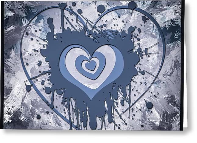 Azure Mixed Media Greeting Cards - Hearts for Hearts 8 Greeting Card by Melissa Smith