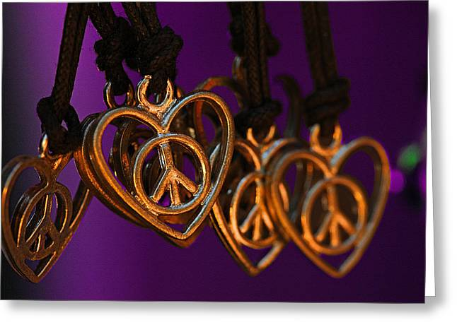 Hippie Sculpture Greeting Cards - Hearts for Sale Greeting Card by Mike Flynn