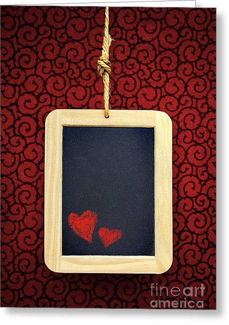 Rope Greeting Cards - Hearts in Slate Greeting Card by Carlos Caetano