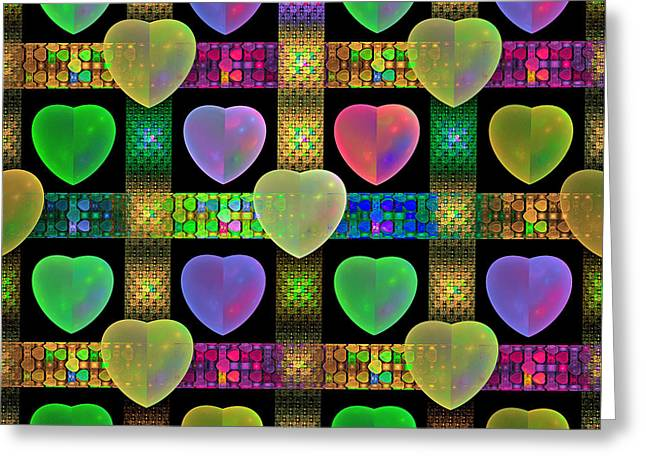Hearts Greeting Card by Sandy Keeton