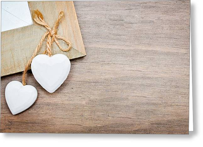 Wife Photographs Greeting Cards - Hearts Greeting Card by Tom Gowanlock