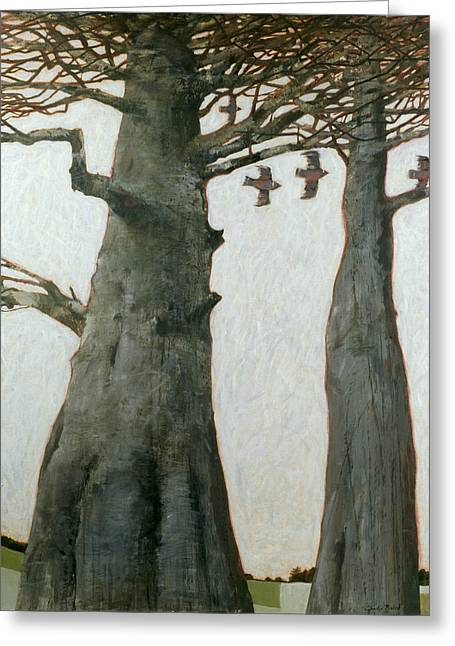 Tall Tree Greeting Cards - Heartwood Greeting Card by Charlie Baird