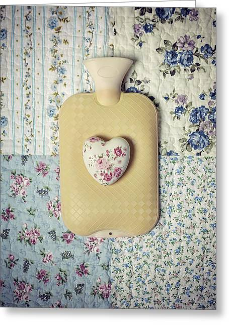 Hot Water Greeting Cards - Hearty Hot-water Bottle Greeting Card by Joana Kruse