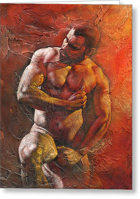 Muscular Greeting Cards - Heat 7 Greeting Card by Chris  Lopez